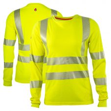 National Safety Apparel Class 3 FR CAT 2 Hi Visibility Womens Long Sleeve T-Shirt