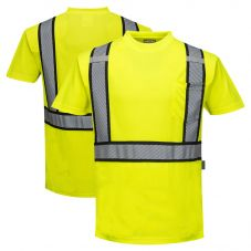 Portwest S395 Detroit Class 2 Hi Vis Short Sleeve Contrasting Safety T-Shirt