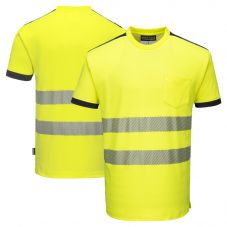 Portwest T181 HiVis Segmented Short Sleeve Safety T-Shirt