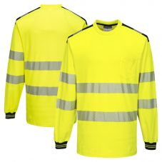 Portwest T185 Class 3 High Visibility Long Sleeve T-Shirt