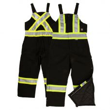 Tough Duck S757 Class 1 Black 10oz Cotton Duck Insulated Contrast Safety Overall