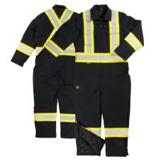 Tough Duck S787 Class 1 Black 6oz Cotton Duck Insulated Contrast Safety Coverall