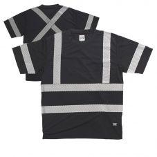 Tough Duck ST12 Class 1 High Visibility Segmented Short Sleeve T-Shirt