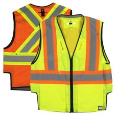 Tough Duck SV09 Class 2 HiVis Heavyweight Contrast Harness Compatible Safety Vest