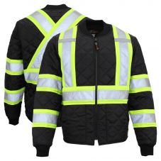 Work King S432 Class 1 HiVis Contrast Quilted Safety Jacket