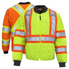Work King S432 Class 3 Hi Vis Contrast Quilted Safety Jacket