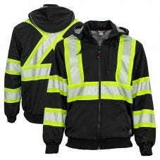Work King SJ16 Class 1 Thermal Lined Anti-Pill Polyester Hoodie