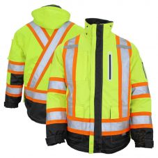 Work King SJ28 Class 3 Hivis Safety 300D Ripstop Shell
