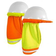 Enhanced Visibility Reflective Contrasting Mesh Hard Hat Sun Shield