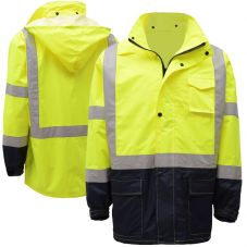 GSS Safety Hi-Viz Class 3 Utility Rain Coat