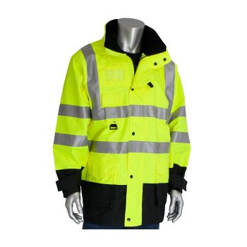 Safety Gear USA 7-in-1 All Seasons HiVis Jacket1