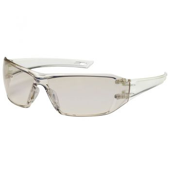 PIP Bouton Optical 250-46-0226 Captain Rimless Safety Glasses w/ Indoor/Outdoor Blue Lens and Anti-Scratch / FogLess