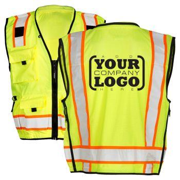 Hi Vis Class 2 Contrast Surveyor Vest with 1-Color Back Imprint