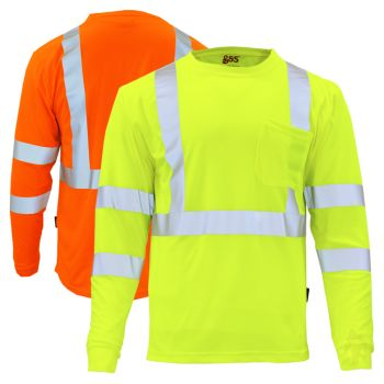 GSS Safety 5505/5506 Class 3 HiVis Long Sleeve Safety T-Shirt