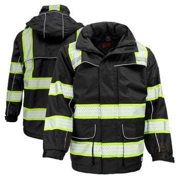 GSS Safety 6503 Onyx Series Enhanced Visibility Ripstop Safety Rain Coat