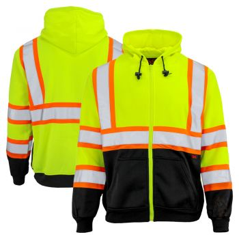 GSS Safety 7009 Class 3 Two Tone Zip front Sweatshirt