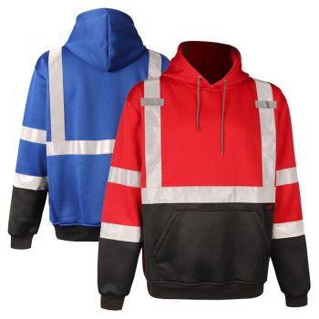 GSS Safety 7013/7014 Enhanced Visibility Black Bottom Pullover Sweatshirt