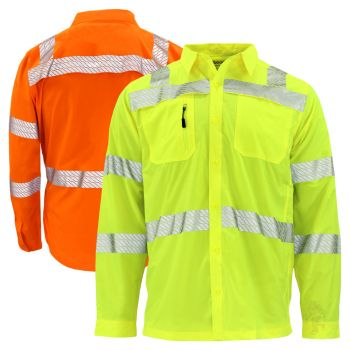 GSS Safety 7505/7506 Onyx Series Class 3 HiVis Performance Safety Wind Shirt