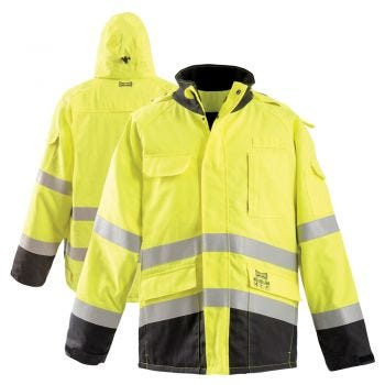 HiVis Class 3 HRC 4 FR Black Bottom Safety Bomber
