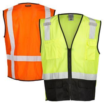 Kishigo 1509 Ultra Cool Black Bottom Safety Vest   Front