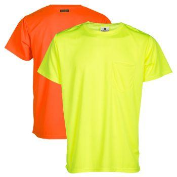 Kishigo 9124 High Visibility Microfiber T-Shirts | Lime Front