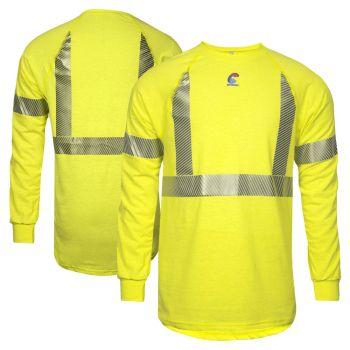 National Safety Apparel BSTJTRLSC2 Class 2 FR Control 2.0 CAT 1 Long Sleeve Segmented Safety T-Shirt