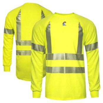 National Safety Apparel BSTJTRLSC3 Class 3 FR Control 2.0 CAT 1 Long Sleeve Segmented Safety T-Shirt