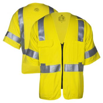 National Safety Apparel VIZABLE FR Class 3 HRC 2 HiVis Deluxe Dual Hazard Safety Vest