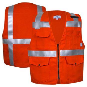 National Safety Apparel Vizable VNT99374 FR Enhanced Visibility CAT 2 Survey Vest
