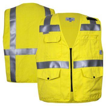 National Safety Apparel VIZABLE FR Class 2 CAT 2 HiVis Survey Safety Vest