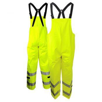 Neese 267BT Class E HiVis Dura Arc 2 FR HRC 2 PVC on Modacrylic Safety Rain Bib