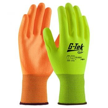 PIP G-Tek 33/425 Nylon Knit Glove with Polyurethane Coated Palm/Fingers