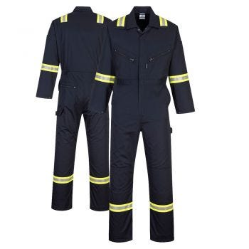 Portwest F128 Iona Xtra Enhanced Visibility Navy Coverall