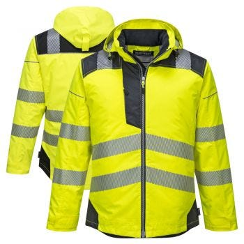 Portwest T400 PW3 Vision Class 3 HiVis Insulated Rain Jacket