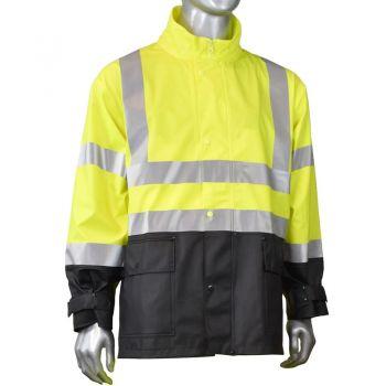 Radians RJ07 FORTRESS 35 Industrial Grade ANSI 3 PVC Rain Jacket | front