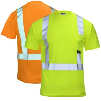 Radians ST11-2 Class 2 Max-Dri Short Sleeve Safety Pocket T-Shirt