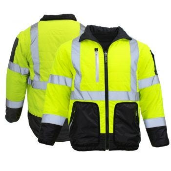 Radians SJ510 HiVis 4-in-1 Safety Puffer Jacket