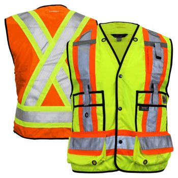 Work King S313 Class 2 Surveyor's HiVis Safety Vest