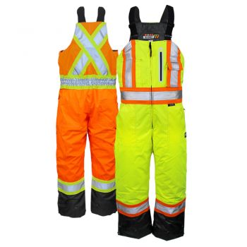 Work King S876 Class 2 Contrast Quilt Lined Insulated Safety Overall