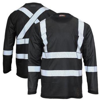 Work King ST08 Enhanced Visibility Segmented Tape Micro Mesh Long Sleeve T-Shirt