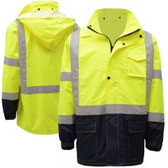 GSS Safety HiVis Class 3 Utility Rain Coat