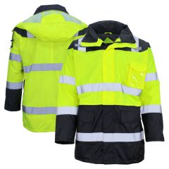 GSS Safety 8501/8509 HiVis Waterproof Fleece Lined Safety Parka