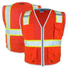 ML Kishigo 1710 Brilliant Series Class 2 HiVis Red Heavy Duty Safety Vest