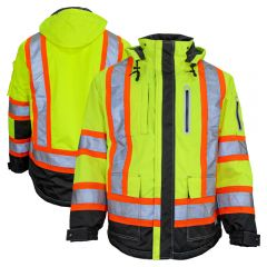 Work King SJ131 Class 3 HiVis Contrast 300D Ripstop Insulated Parka
