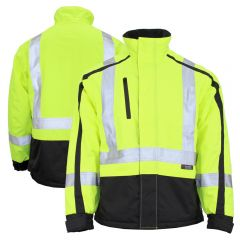 Work King XJ061 Class 3 HiVis 300D Ripstop Water Resistant Insulated Two-Tone Jacket