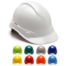 Pyramex Hard Hat Ridgeline WHITE CAP STYLE 4 Point Ratchet Suspension HP44110