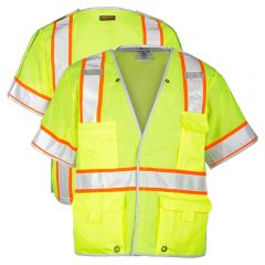 ML Kishigo 1552B Brilliant Series Breakaway Class 3 Safety Vests | Front