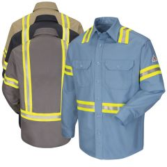 Bulwark SLDT Enhanced Visibility FR Uniform Shirt HRC-2