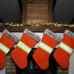 Cotton Duck High Visibility Reflective Christmas Stocking
