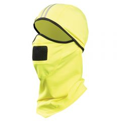 Enhanced Visibility 3-in-1 UPF 50 Hinged Fleece Balaclava | High Visibility Lime